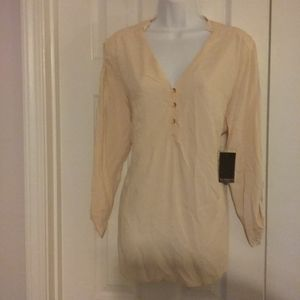 Eloquii top with gold buttons